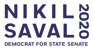 Nikil Saval 2020 Full Navy Transparency For State Senate Official Logo