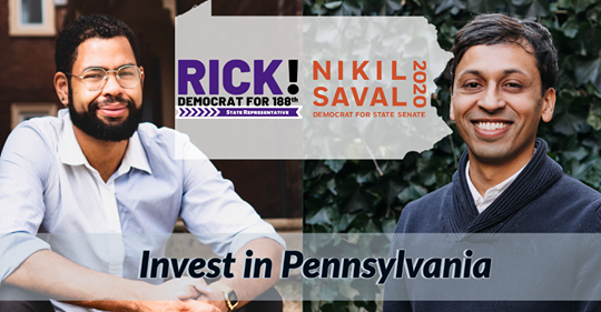Nikil for PA 1 and Rick For West Philly Joint Pandemic Platform