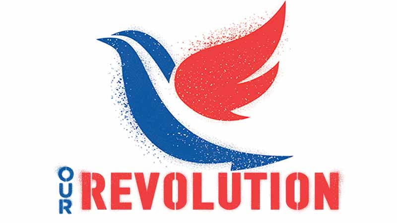 Our Revolution Logo For Nikil Saval